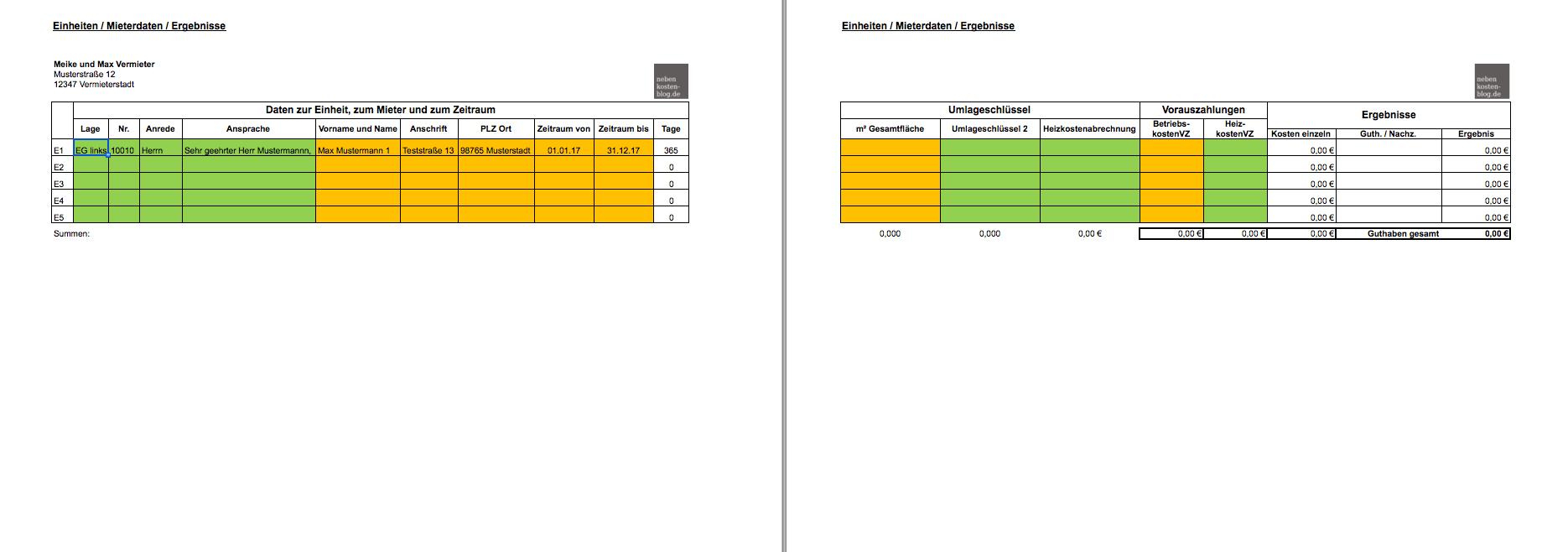 Handbuch Excel-Vorlage Nebenkosten BASIS   nebenkosten-blog.de