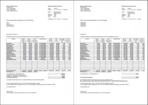 einzelabrechnungen pro leere zeilen knnen auch ausgeblendet werden - Nebenkostenabrechnung Muster Excel